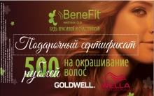 Подарочный сертификат на 500 рублей каждому от WellnesClub BeneFit!