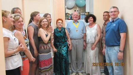 Коллектив на юбилее Гаврилова